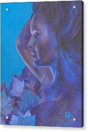 Indigo Serene Acrylic Print by Ragen Mendenhall