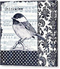 Indigo Vintage Songbird 2 Acrylic Print by Debbie DeWitt