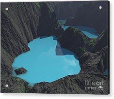 Indonesian Crater Lakes Acrylic Print by Gaspar Avila