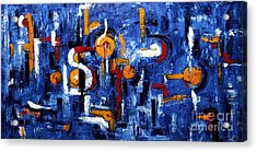 Acrylic Print featuring the painting Industrial Abstract by Arturas Slapsys