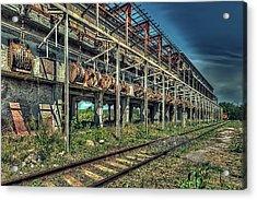Industrial Archeology Railway Silos - Archeologia Industriale Silos Ferrovia Acrylic Print