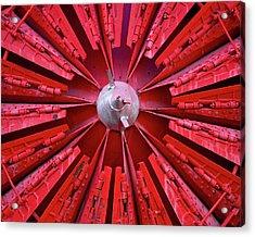 Industrial Bloom Acrylic Print by Elizabeth Richardson