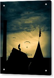 Industrial Carnival Acrylic Print by Bob Orsillo