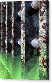 Industrial Disease Acrylic Print by Richard Rizzo