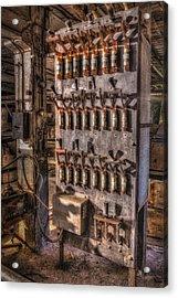 Industrial Electrical Panel II Acrylic Print by Susan Candelario