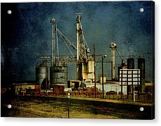 Industrial Farming In Texas Acrylic Print by Susanne Van Hulst