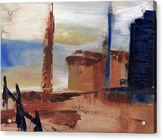 Acrylic Print featuring the painting Industrial by Patricia Cleasby