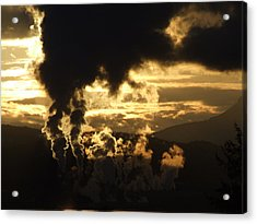 Industry Acrylic Print by Mark Alan Perry
