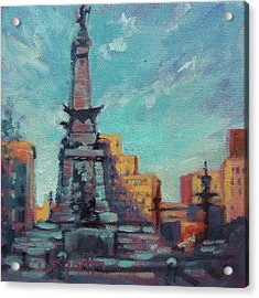 Indy Circle- Day Acrylic Print by Donna Shortt
