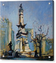 Indy Circle Monument Acrylic Print by Donna Shortt