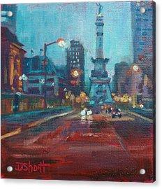 Indy Circle Night Acrylic Print by Donna Shortt