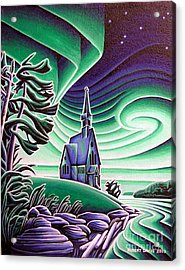 Infant Jesus Church, Longlac, Ontario Acrylic Print by Robert Davies