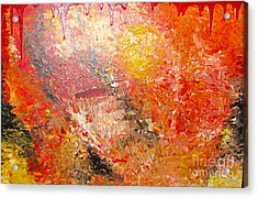Acrylic Print featuring the painting Inferno by Jacqueline Athmann