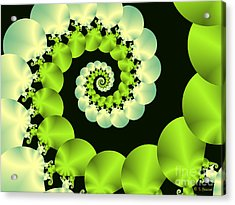 Infinite Chartreuse Acrylic Print by Sandra Bauser Digital Art