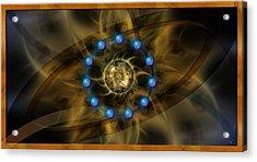Infinite Lotus Acrylic Print by Kenneth Armand Johnson