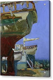 Infinity Awaiting Winter - Plein Air Catalina Island Acrylic Print
