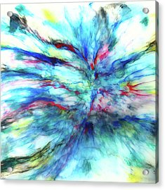Acrylic Print featuring the mixed media Influx by Tom Druin