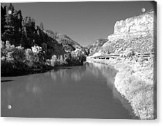 Infrared Black And White Acrylic Print by James Steele