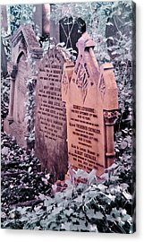 Music Hall Stars At Abney Park Cemetery Acrylic Print by Helga Novelli