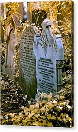 Infrared George Leybourne And Albert Chevalier's Gravestone Acrylic Print by Helga Novelli
