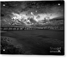 Infrared Longboat Pass Bridge Acrylic Print