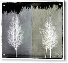 Infrared Trees With Texture Acrylic Print