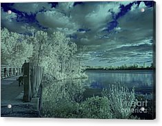 Infrared View On Creve Coeur Lake Acrylic Print