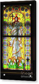 Infront Of The Altar Acrylic Print by Stephan Grixti