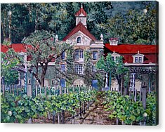 Inglenook Winery Napa Valley  Acrylic Print by Gail Chandler