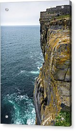 Acrylic Print featuring the photograph Inishmore Cliff And Dun Aengus  by RicardMN Photography