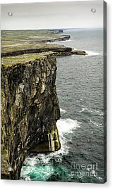 Acrylic Print featuring the photograph Inishmore Cliffs And Karst Landscape From Dun Aengus by RicardMN Photography