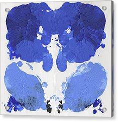Ink Blot Blue Acrylic Print