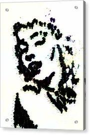 Ink Blot Monroe Acrylic Print by Arianna Trombley