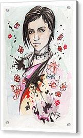 Ink Blots Acrylic Print by Miguel Karlo Dominado