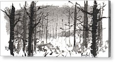 Ink Landscape 1 Acrylic Print by Sean Seal