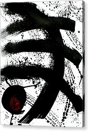 Ink On Paper Rose #1 Vertical Ink Landscape Original Fine Art Ink On Paper Acrylic Print