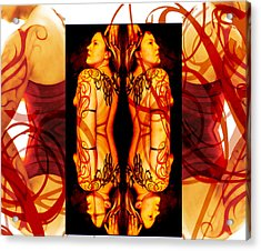 Ink Sisters 8 Acrylic Print by Erika Brown