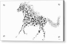 Acrylic Print featuring the drawing Ink Splattered Stallion by Nick Gustafson