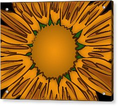 Ink Sunflower Acrylic Print by Christopher Sprinkle