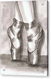 Ink Wash En Pointe Acrylic Print