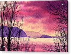 Acrylic Print featuring the painting Inland Sea Islands by James Williamson