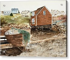 Inlet At Peggy's Cove Acrylic Print
