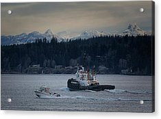 Acrylic Print featuring the photograph Inlet Crusader by Randy Hall