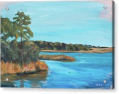 Inlet In Phthalo Acrylic Print