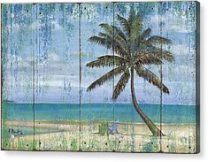 Inlet Palm - Distressed Acrylic Print