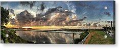 Inlet Sunrise Panorama Acrylic Print
