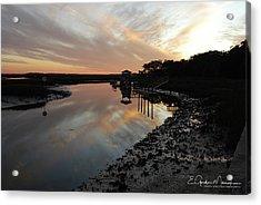 Inlet Sunset Acrylic Print by Gordon Mooneyhan