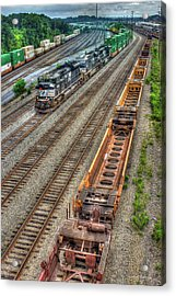 Acrylic Print featuring the photograph Inman Intermodal Yard Atlanta Norfolk Southern Railway Locomotive 2665 Art by Reid Callaway