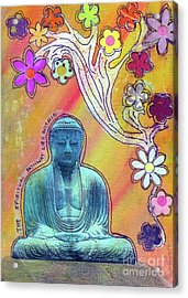 Acrylic Print featuring the mixed media Inner Bliss by Desiree Paquette