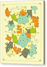 Inner Formations 2 Acrylic Print by Jazzberry Blue